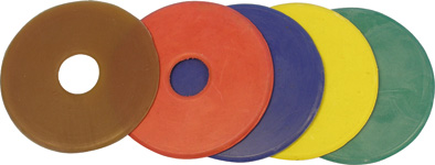 Kroužky na udidlo gumové modré velikost 9 cm pár
