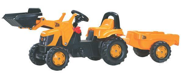 Rolly Toys - šlapací traktor JCB s vozíkem a čelním nakladačem Rolly Kid