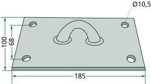 Podlahová a stropní kotva pro krávy model 36 K s upínací deskou