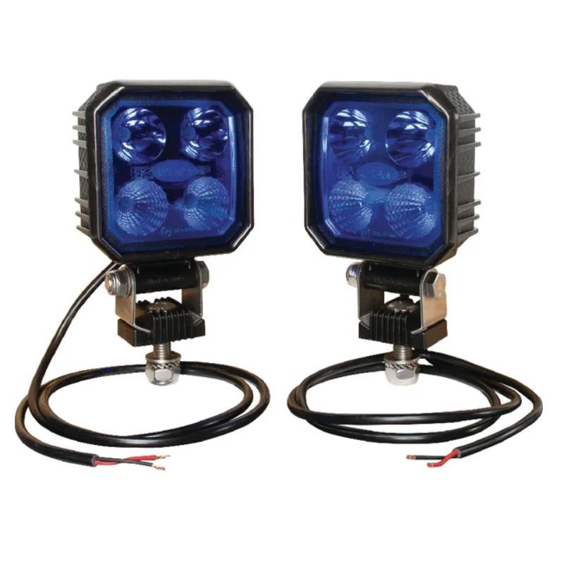 Modrý LED pracovní světlomet 10V a 30V světelný tok 1000 lm pro postřikovač, balení 2 ks
