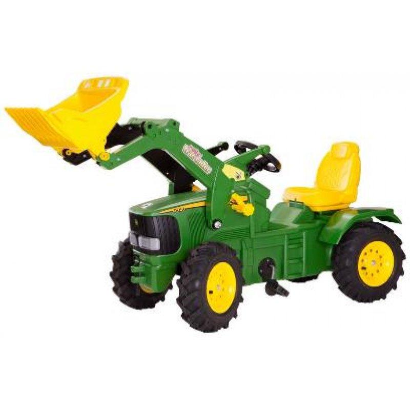 Rolly Toys - šlapací traktor John Deere 6210 R s nakladačem a pneumatikami plněnými vzduch