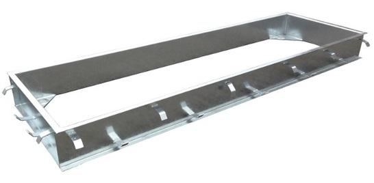 Osazovací rám pro přejezdové váhy C-profil zinkovaný 3,4 x 1 m