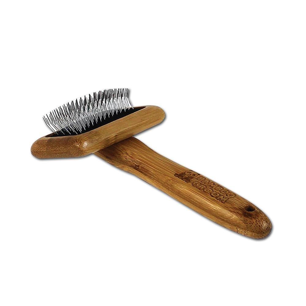 Bamboo Groom střední kartáč s nerezovými hroty pro všechny typy srstí, Finišák