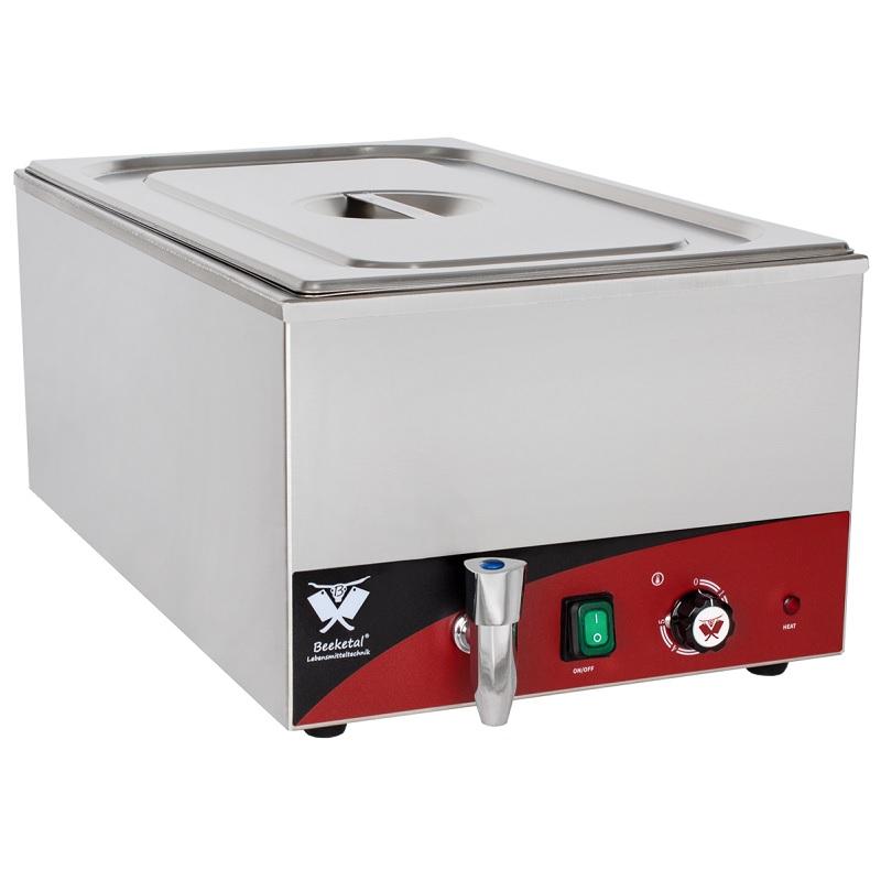 Elektrická vodní lázeň BEEKETAL BBM1 na 1 velkou gastro nádobu s termostatem včetně GN