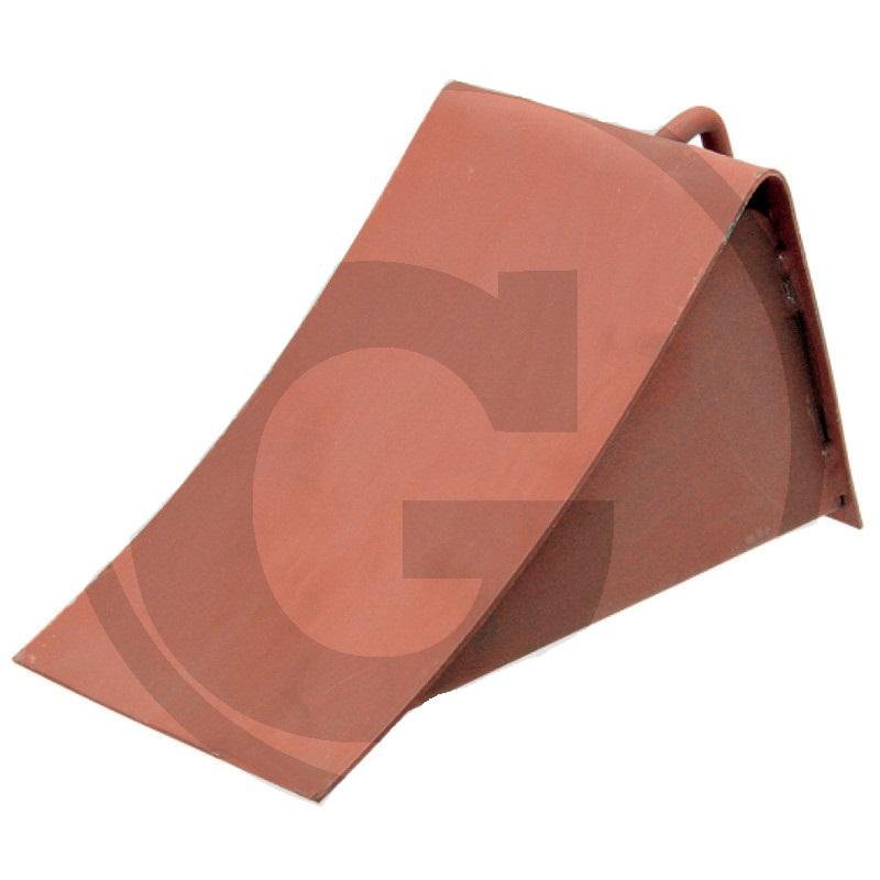 Zakládací klín pod kola ocelový s madlem podle DIN 76051 280 x 150 x 170 mm