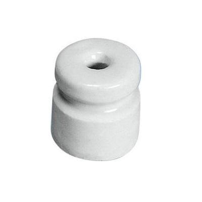 Klasický porcelánový izolátor VN válcový pro elektrický ohradník 25 ks