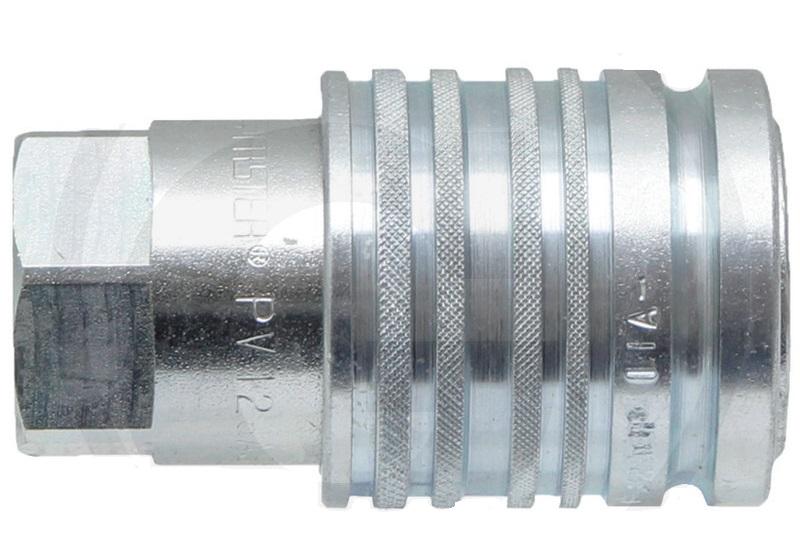 Hydraulická spojka, rychlospojka samice KM 18-1,5 (M18x1,5) DN12-BG3 s vnitřním závitem