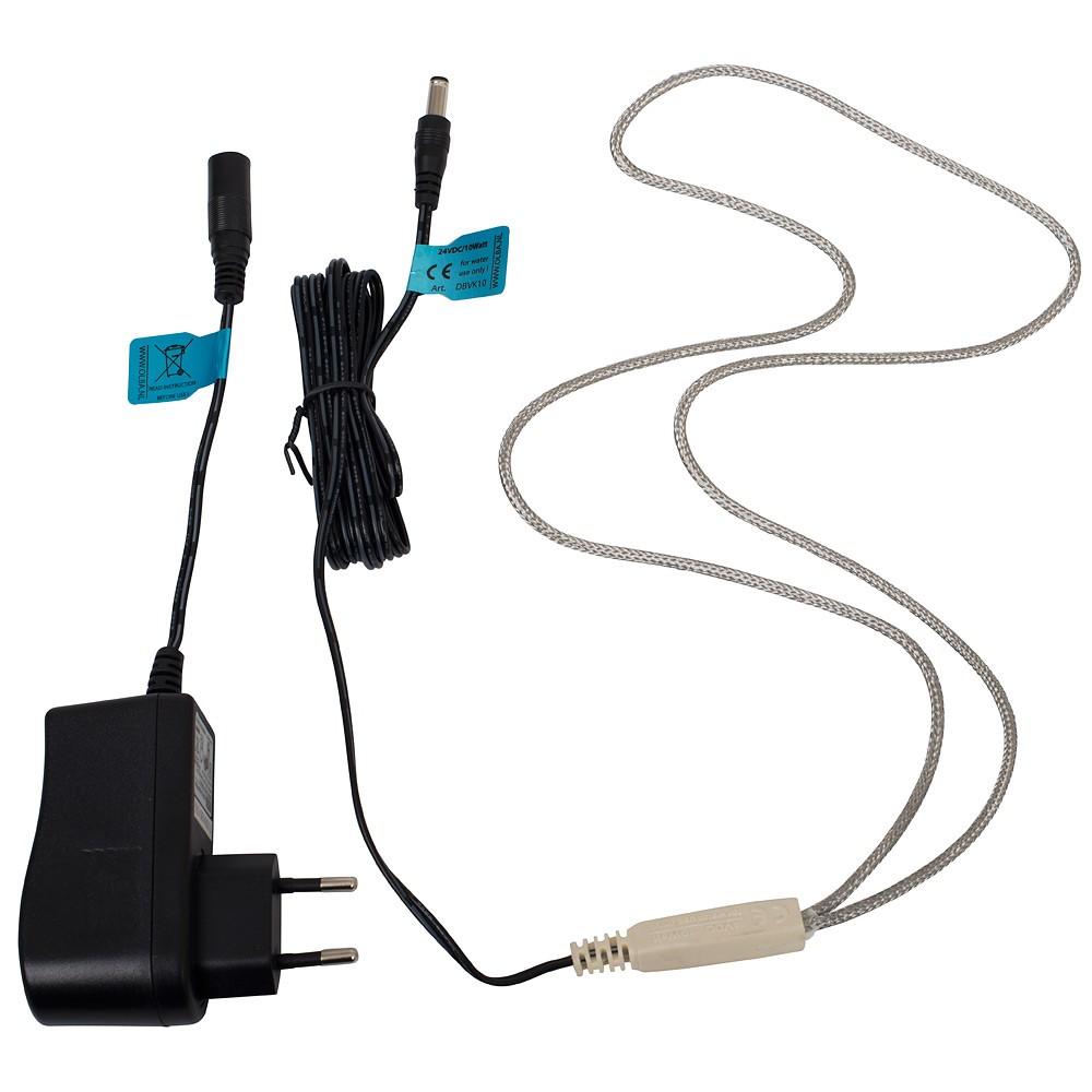 Výhřevný kabel 24V/10W pro malé napáječky pro slepice, drůbež