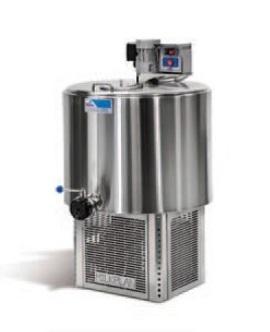 Chladící tank na mléko Milkplan MPV 100 l na chlazení mléka, 2 nádoje
