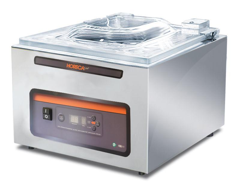 Komorová vakuovačka HORECA CVE 400, profi vakuová balička potravin, lišta 400 mm, 900 W