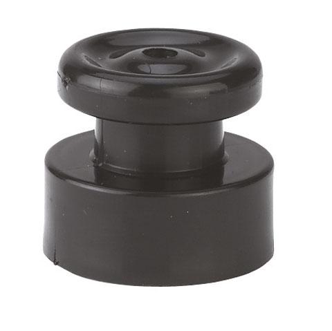 Prstencový hřebíkový izolátor VN černý pro elektrický ohradník 100 ks bez hřebíku