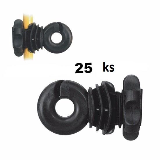 Návlečný kruhový izolátor VN LACME IVABLOC pro ocelové a laminátové tyčky 8-14 mm 25 ks