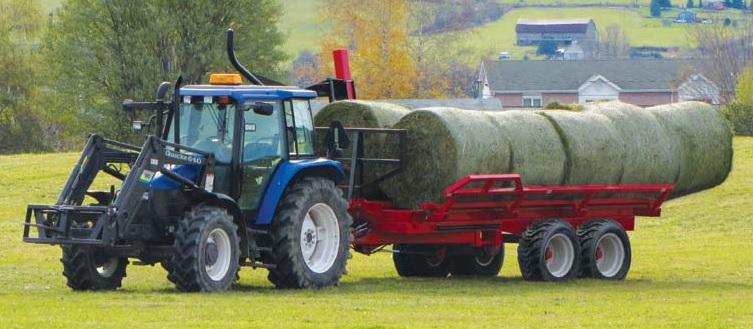 Samonakládací vůz na kulaté balíky za traktor Anderson TRB1000