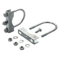 Sada svěrací spony s mechanickým upínáním pro opěrná kola 2 ks pro průměr trubky 60 mm