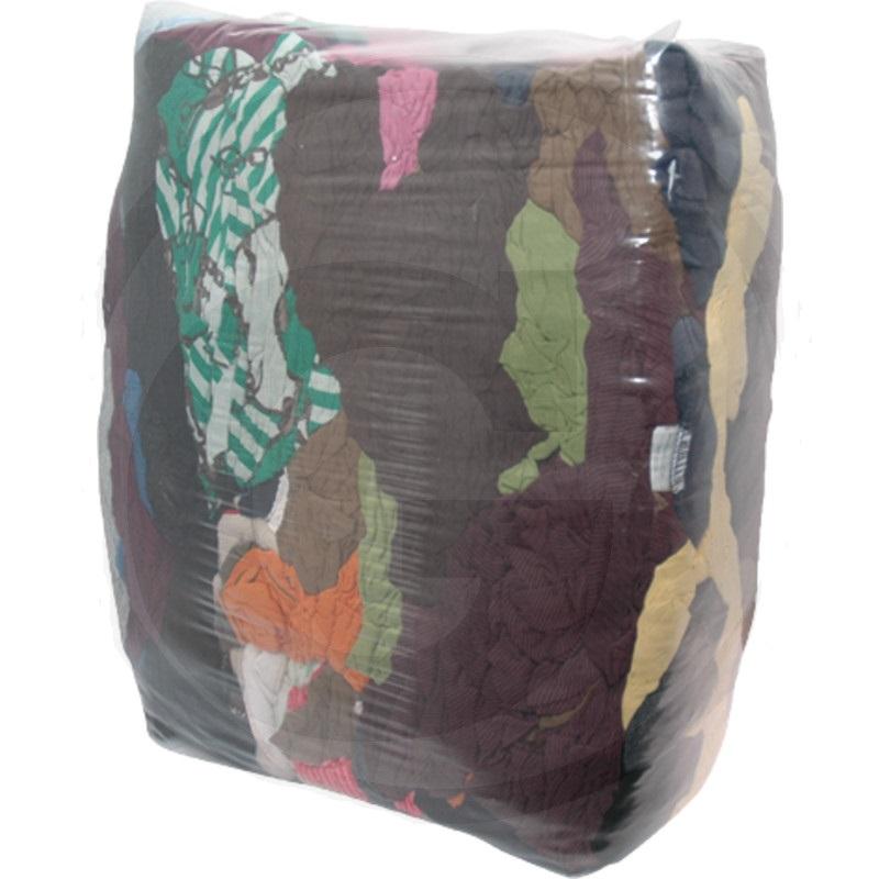 Savá trikotová tkanina barevná na čištění strojů a nářadí, hadry na šmír barevné 10 kg