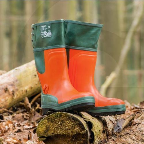 Lesnické holínky s ochranou proti proříznutí velikost 44