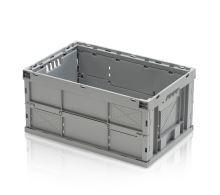 Skládací plastová přepravka univerzální vhodná do dílny, nosnost 30 kg