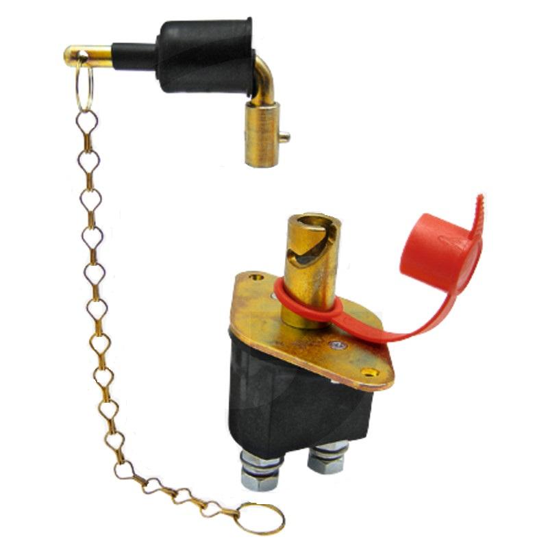 Odpojovač baterie, akumulátoru na svorku s řetízkem Granit