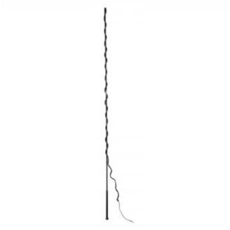 Lonžovací bič HKM 180 cm dělený černý