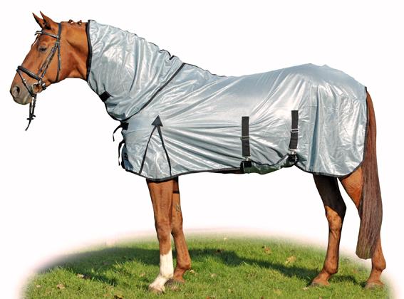 Letní deka na koně proti mouchám HKM Lyon s krkem