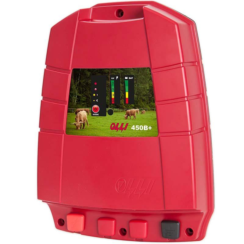 OLLI 450 B Plus bateriový zdroj napětí pro elektrický ohradník 12V, 3J