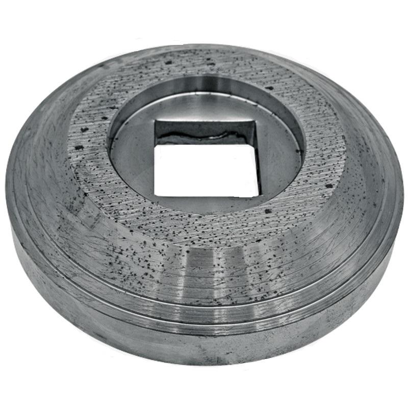 Vniější příruba diskového podmítače Kverneland  průměr 158 mm pro hřídel 40 x 40 mm