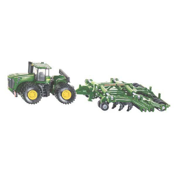 Siku – traktor John Deere 9630 s pluhem Amazone Centaur 1:87