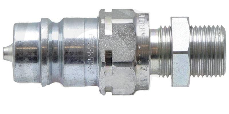 Hydraulická spojka, rychlospojka samec s přepážkou KS-S 10L (M16x1,5) DN12-BG3