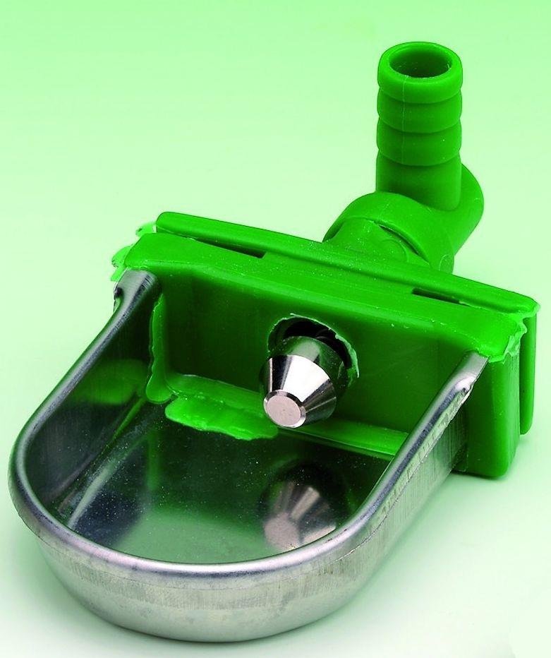 Nerezová napájecí miska, hadičková napáječka pro králíky s ventilem s otočným vývodem