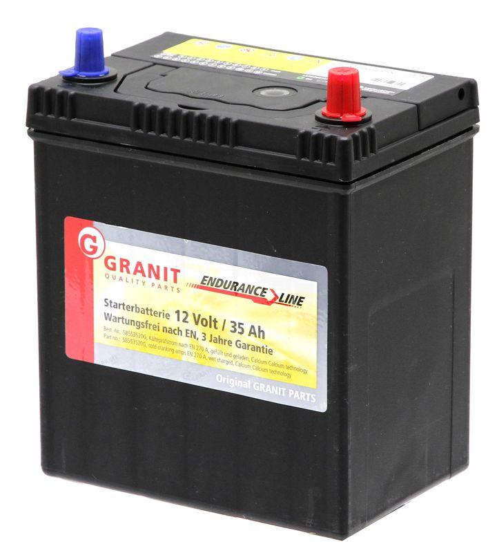 Autobaterie 12V 35Ah Granit bezúdržbová do auta, traktoru startovací proud 270A, 0/3