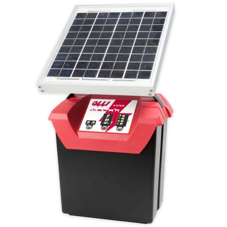 Kombinovaný zdroj se solárním panelem pro el. ohradník OLLI 9.07 S 9V/ 12V/ 230V, 0,7J