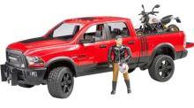Bruder - Dodge RAM 2500 Power Wagon s motorkou Ducati Scrambler Desert Sled