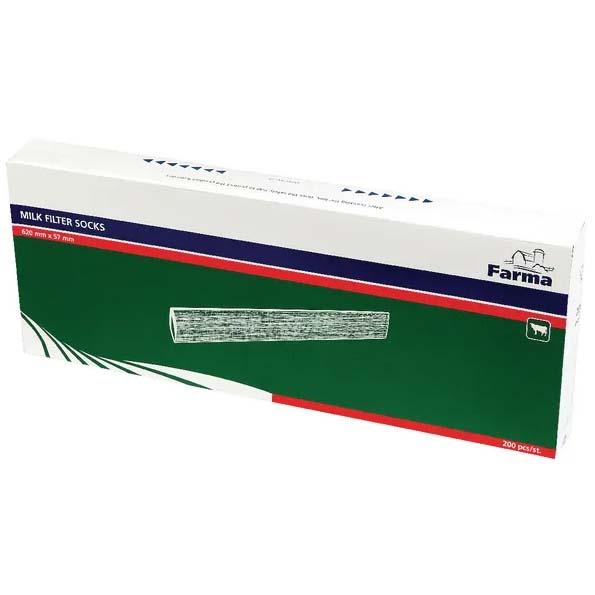 Filtrační hadice na mléko 620×57 mm 200 ks gramáž 75 g/m2