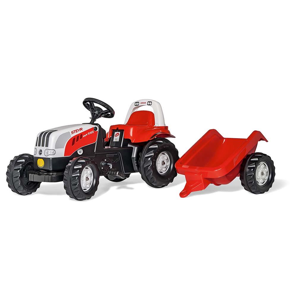 Rolly Toys - šlapací traktor Steyr 6195 CVT s vozíkem modelová řada Rolly Kid