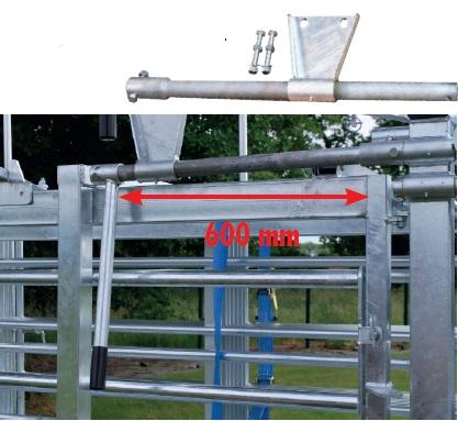 Táhlo pro fixační čela PASDELOU PCCM / PCT namontované na fixační klec s pevnými stranami
