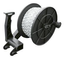 Naviják Super Roller 500 na lanka a pásky elektrických ohradníků s brzdou a závěsem