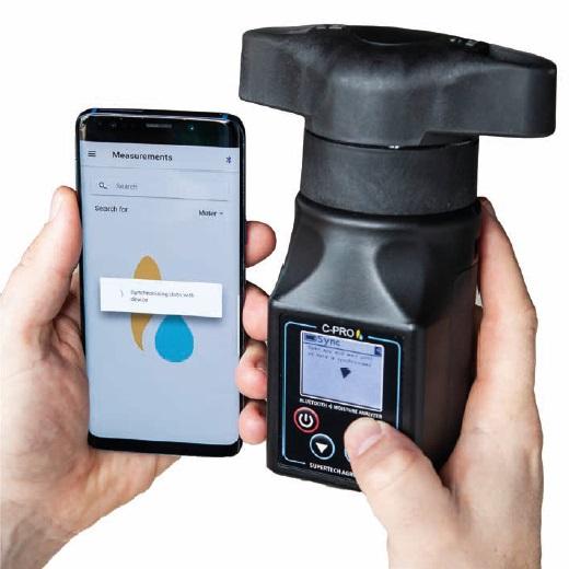 Vlhkoměr obilí digitální C-PRO s integrovaným mlýnkem pro spojení s chytrým telefonem
