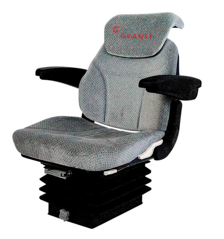 Traktorová sedačka Granit Super-komfort vzduchové odpružení 12 V s otočnou deskou