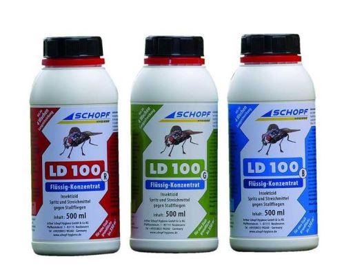 LD 100 G tekutý koncentrát k hubení much ve stáji 500 ml, účinná látka Permethrin