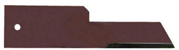 Protinůž do drtiče slámy Rasspe hladký pro Biso, Deutz, John Deere, New Holland tloušťka 3