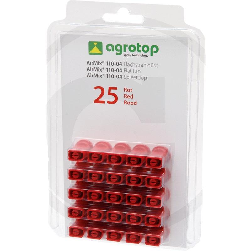 Agrotop AirMix injektorová tryska 110° plastová červená balení 25 ks