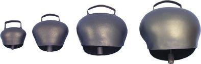 Pastevní zvonec plechový ocelově modrý průměr 80 mm