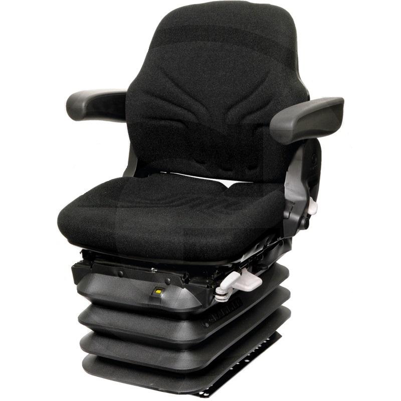 Traktorová sedačka Grammer Maximo Comfort MSG 95G / 721 vzduchově odpružená černá látka