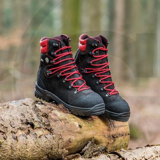 Dřevorubecká kožená obuv FOREST TECH s ochranou proti proříznutí