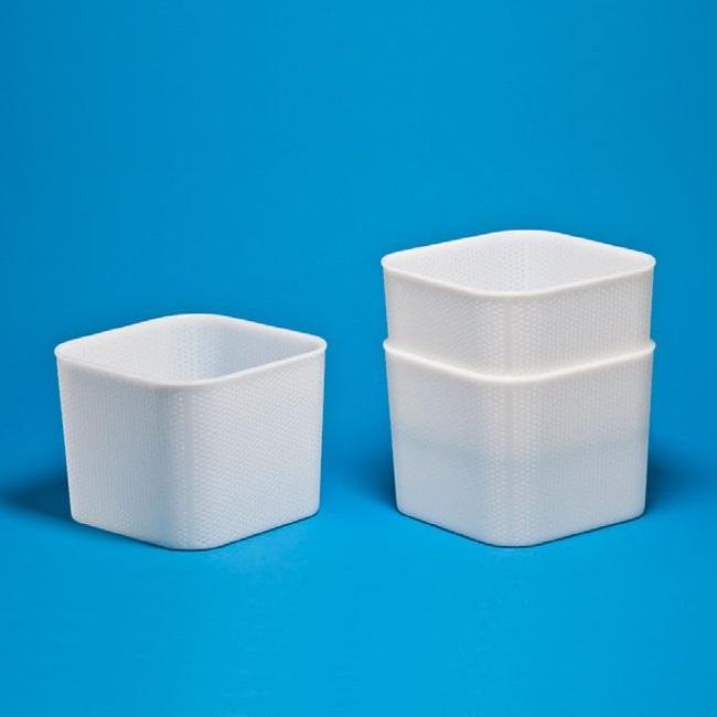 Lisovací forma na sýr krychlová FA 34 stohovatelná 4000 g na polotvrdý a tvrdý sýr