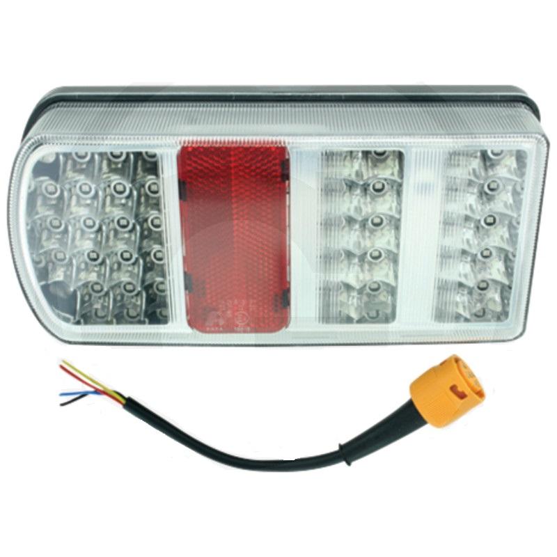 LED koncové světlo 6-funkční 12V levé přípojné vedení 200 mm s 5-pólovým bajonetem