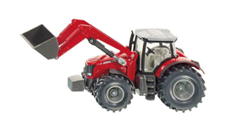 Siku – traktor Massey Ferguson s čelním nakladačem 1:50