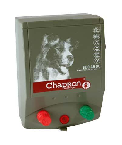 Síťový zdroj pro elektrický ohradník Chapron SEC 1500 napětí 230V, 1,6 J