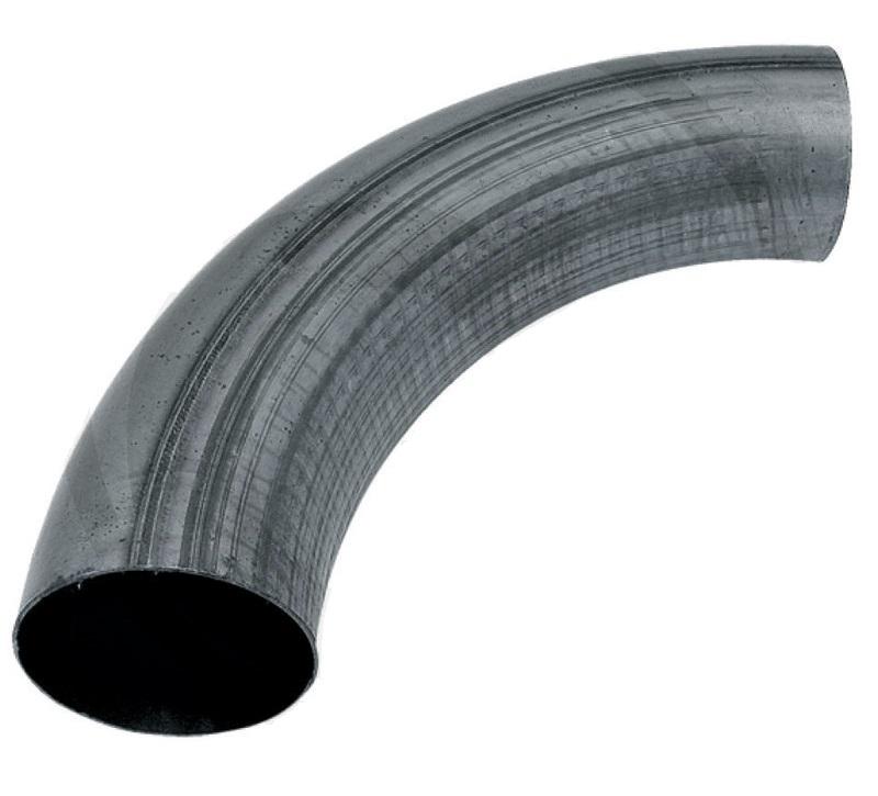 Koleno potrubí 90° průměr 120 mm černé tloušťka stěny 1,5 mm