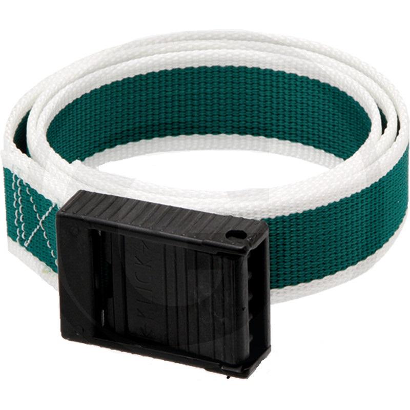 Značkovací obojek pro telata zelený s bílým lemováním - délka 90 cm, šířka 40 mm